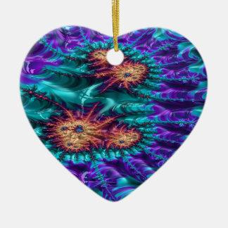 Ornamento De Cerâmica fractal carmesim mais doméstico