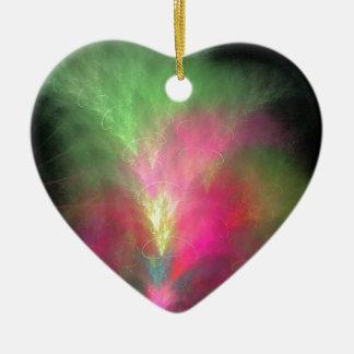 Ornamento De Cerâmica Fractal da melancia