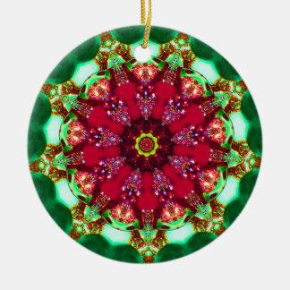 Ornamento De Cerâmica Fractal do candelabro do Natal