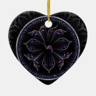 Ornamento De Cerâmica Fractal floral