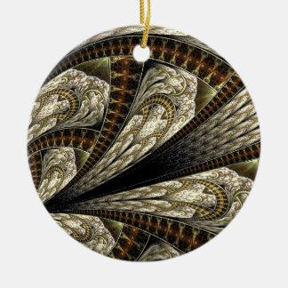 Ornamento De Cerâmica Fractal floral #2