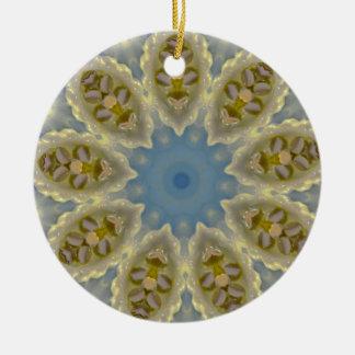 Ornamento De Cerâmica Fractal frio e friável do Natal