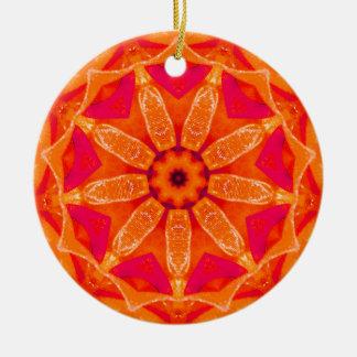 Ornamento De Cerâmica Fractal quente do Natal