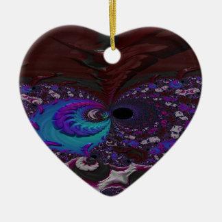 Ornamento De Cerâmica Fractal rouco do halo