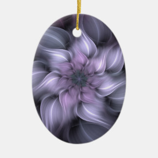 Ornamento De Cerâmica Fractal roxo