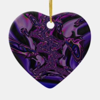 Ornamento De Cerâmica fractal roxo da escuridão