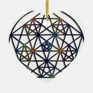 Ornamento De Cerâmica Fractal sagrado da geometria da abundância da vida
