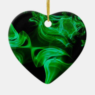 Ornamento De Cerâmica Fractal verde do cetim