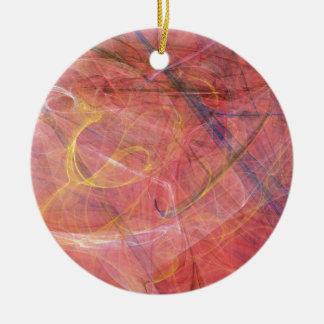 Ornamento De Cerâmica Fractal vermelho abstrato