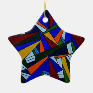 Ornamento De Cerâmica Fragmentos coloridos