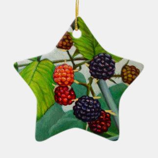 Ornamento De Cerâmica Framboesas