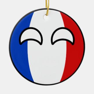 Ornamento De Cerâmica France Geeky de tensão engraçado Countryball