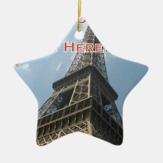 Ornamento De Cerâmica Francês do verão 2016 de Paris France da torre