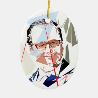 Ornamento De Cerâmica François Hollande