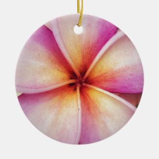 Ornamento De Cerâmica Frangipane cor-de-rosa Dble-tomou partido
