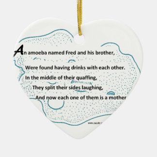 Ornamento De Cerâmica Fred a ameba - um poema da ciência de