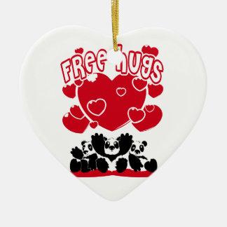 Ornamento De Cerâmica Free_Hugs