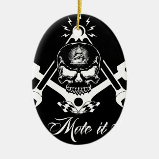 Ornamento De Cerâmica Freemason-Widows-Sons-Masonic-Hotrod-Logo-20160407
