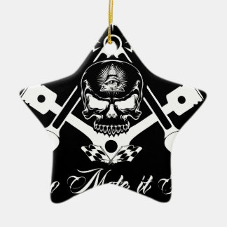 Ornamento De Cerâmica Freemason-Widows-Sons-Masonic-Hotrod-Logo-20160407