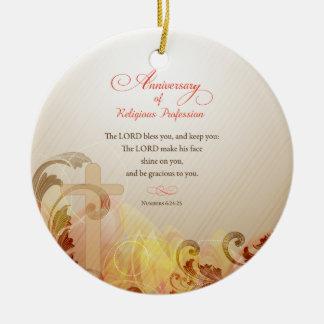 Ornamento De Cerâmica Freira feita sob encomenda do nome & do ano, 60th