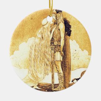 Ornamento De Cerâmica Freja e Svipdag por John Bauer