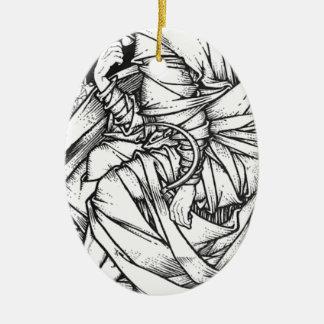 Ornamento De Cerâmica Frey assentou no trono de Odin
