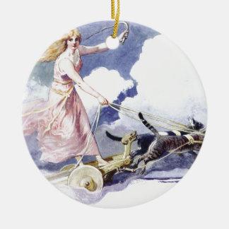 Ornamento De Cerâmica Freyja