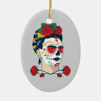 Ornamento De Cerâmica Frida Kahlo | EL Día de los Muertos