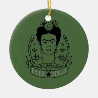 Ornamento De Cerâmica Frida Kahlo | Heroína
