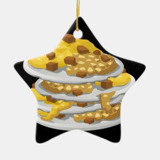 Ornamento De Cerâmica Fritada desarrumado da comida do pulso aleatório
