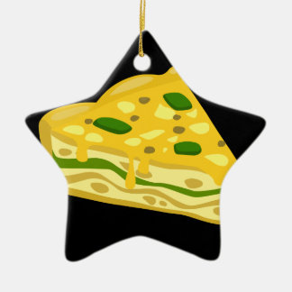 Ornamento De Cerâmica Frittata deliciosa da comida do pulso aleatório