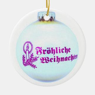 Ornamento De Cerâmica Fröhliche Weihnachten
