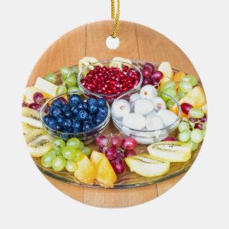 Ornamento De Cerâmica Fruta fresca do verão da variedade na escala de