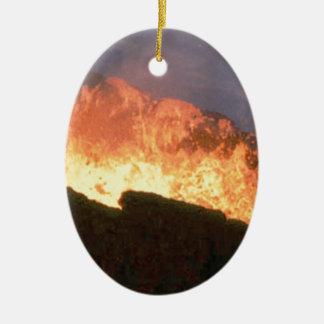 Ornamento De Cerâmica fulgor do fogo vulcânico