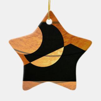 Ornamento De Cerâmica Fulgor dos planetas, preto e cobre, design gráfico