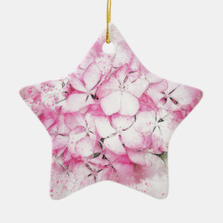 Ornamento De Cerâmica Fundo abstrato do casamento das flores cor-de-rosa