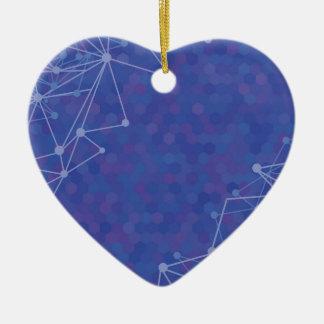 Ornamento De Cerâmica fundo azul