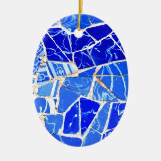 Ornamento De Cerâmica Fundo azul abstrato