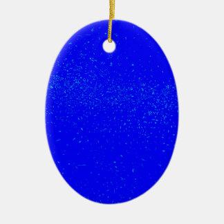 Ornamento De Cerâmica Fundo azul da mancha