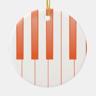 Ornamento De Cerâmica Fundo chave do piano
