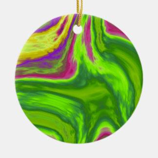 Ornamento De Cerâmica Fundo colorido dos redemoinhos