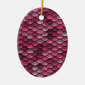 Ornamento De Cerâmica Fundo cor-de-rosa de Snakeskin