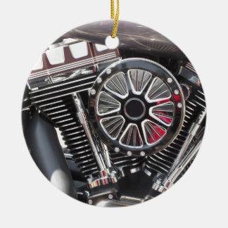 Ornamento De Cerâmica Fundo cromado motocicleta do detalhe do motor
