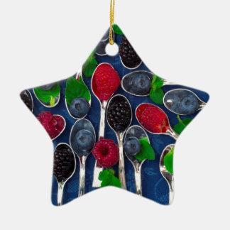 Ornamento De Cerâmica fundo da fruta de baga