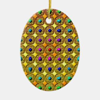 Ornamento De Cerâmica Fundo de pedra preciosa