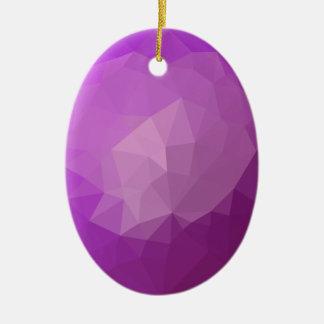 Ornamento De Cerâmica Fundo do polígono do abstrato da violeta da