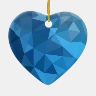 Ornamento De Cerâmica Fundo do polígono do abstrato do azul do