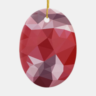 Ornamento De Cerâmica Fundo do polígono do abstrato do vermelho da