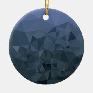 Ornamento De Cerâmica Fundo do polígono do abstrato médio do azul da