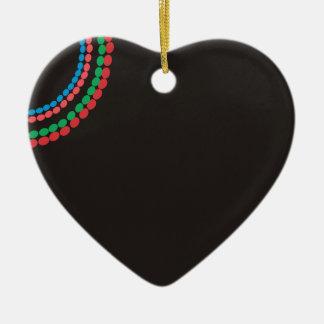Ornamento De Cerâmica Fundo do preto da colar de Maasai